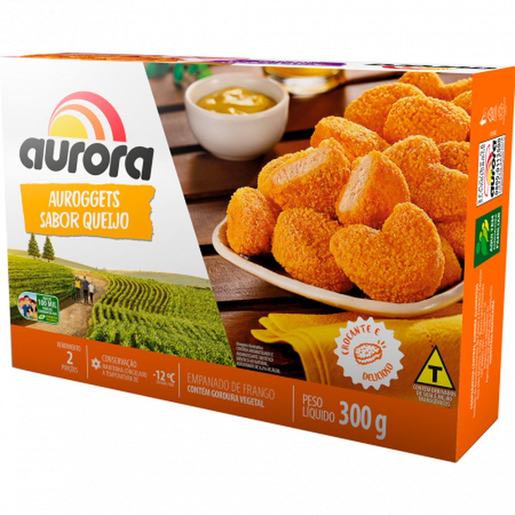 AUROGGETS FRANGO C/QUEIJO 300G  - JJPIVOTTO - Comercio de Frutas