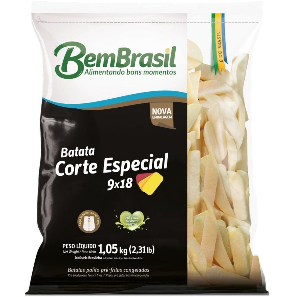BATATA CORTE 9X18 CONGELADA 1,05 KG  - JJPIVOTTO - Comercio de Frutas