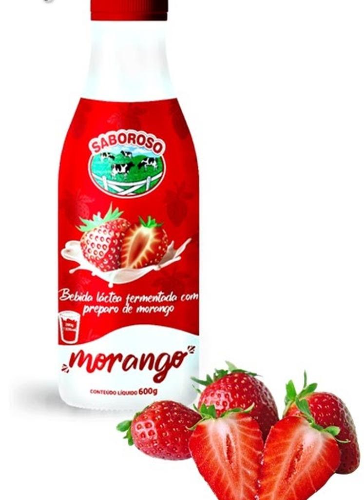 BEBIBA LACTEA MORANGO SABOROSO 600G  - JJPIVOTTO - Comercio de Frutas