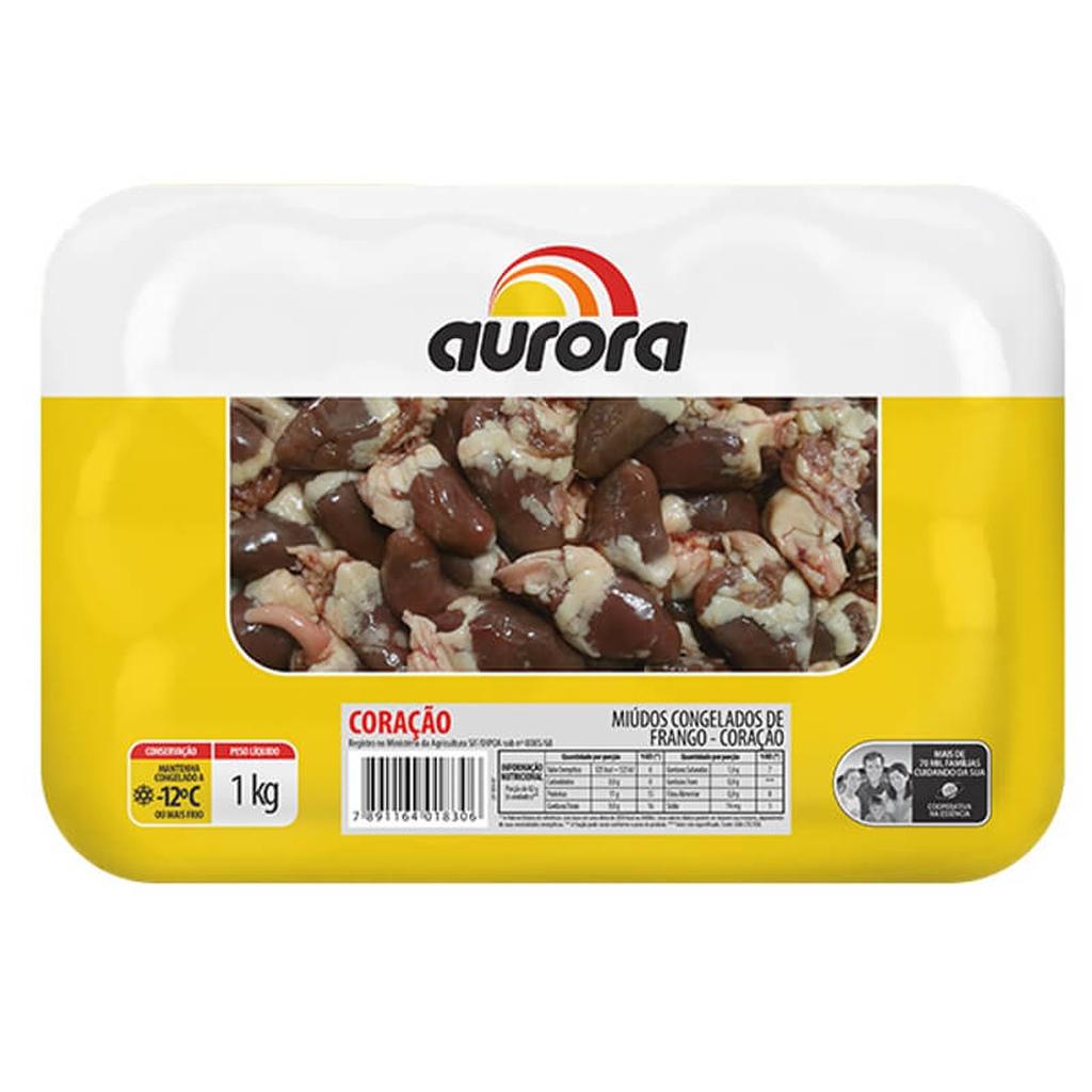 CORACAO CONGELADO AURORA 1KG  - JJPIVOTTO - Comercio de Frutas