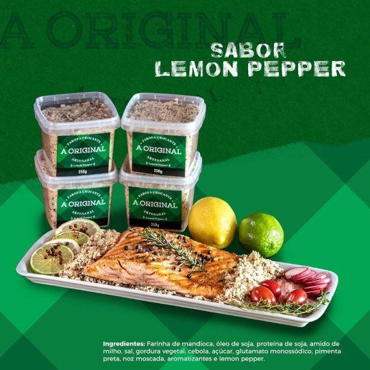 FAROFA LEMON PEPPER 250G  - JJPIVOTTO - Comercio de Frutas