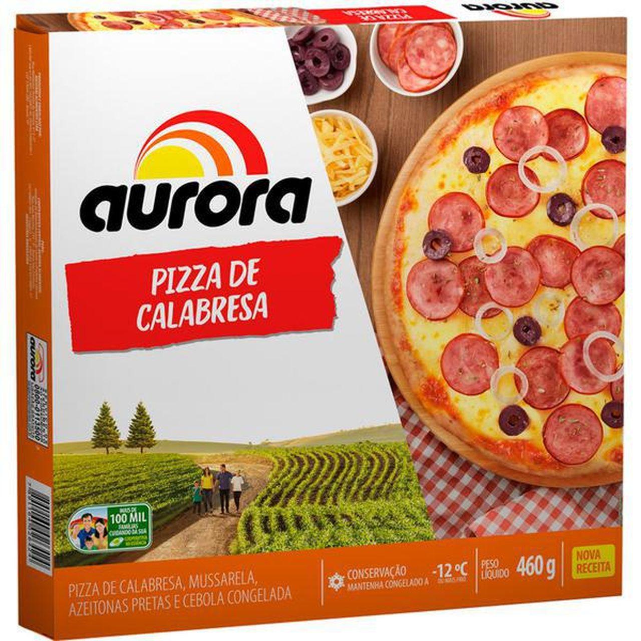 PIZZA CALABRESA AURORA 460G  - JJPIVOTTO - Comercio de Frutas