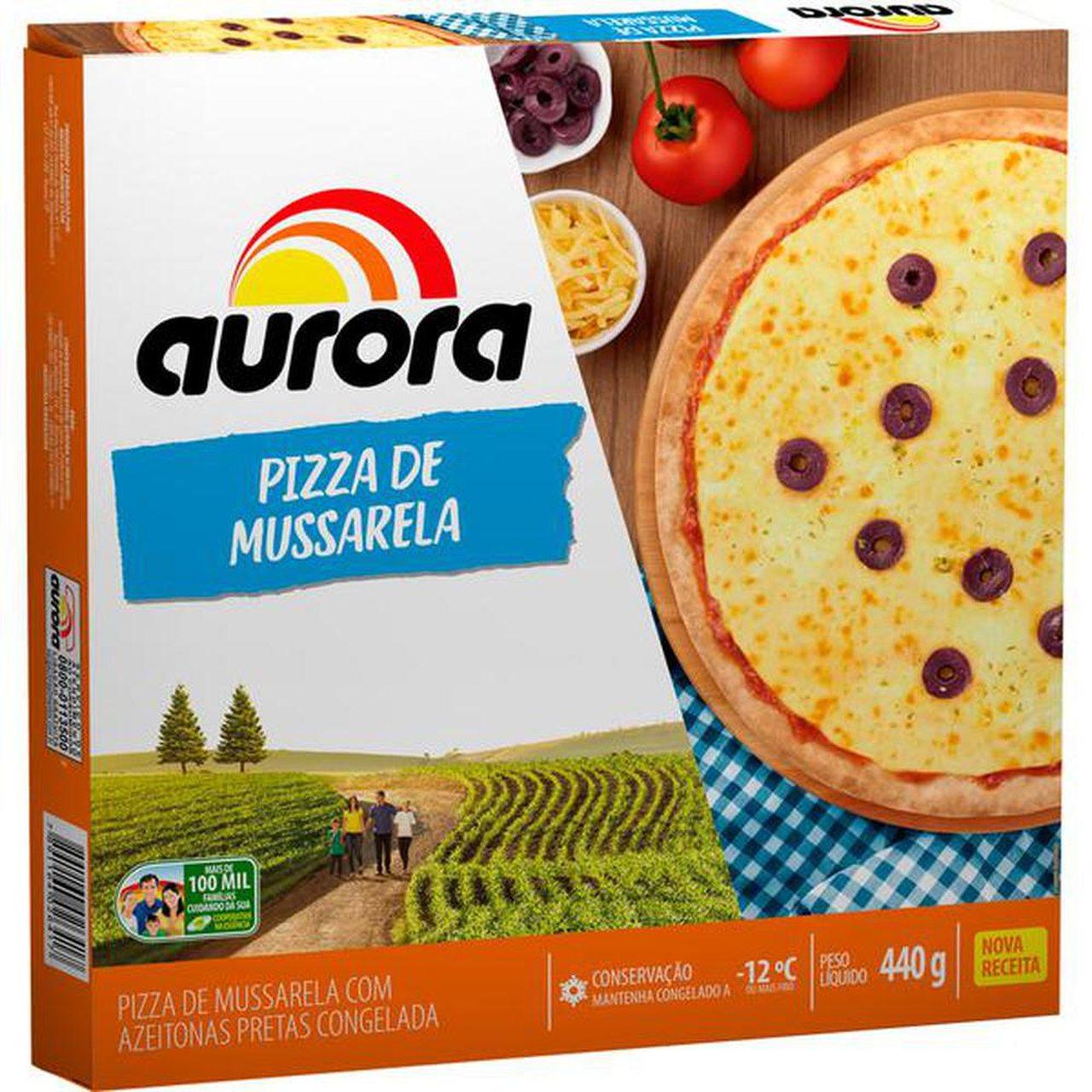 PIZZA MUSSARELA AURORA 440G  - JJPIVOTTO - Comercio de Frutas
