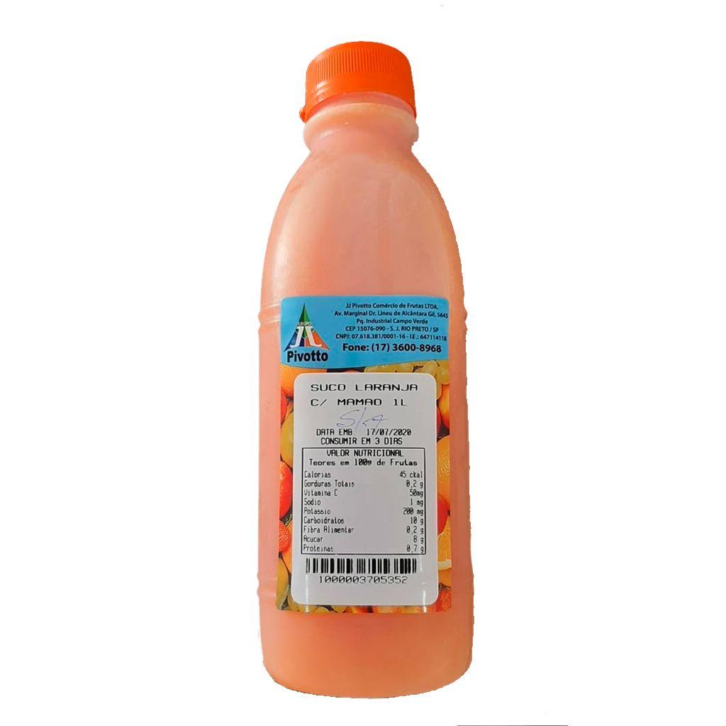 SUCO LARANJA C/ MAMAO 1L  - JJPIVOTTO - Comercio de Frutas