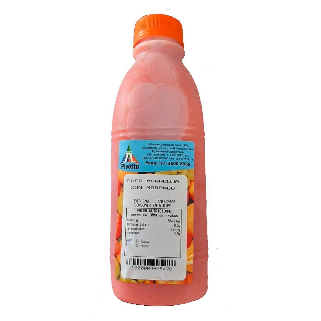 SUCO MARACUJA COM MORANGO 1L  - JJPIVOTTO - Comercio de Frutas