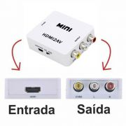 Conversor HDMI para AV (RCA) Full HD 1080p Mini