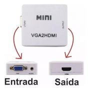 Conversor VGA para HDMI Full HD 1080p Mini