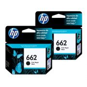 Kit 2 Cartuchos De Tinta Hp 662 Preto