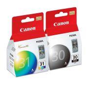 Kit Cartucho Canon 30 Preto E 31 Colorido Original