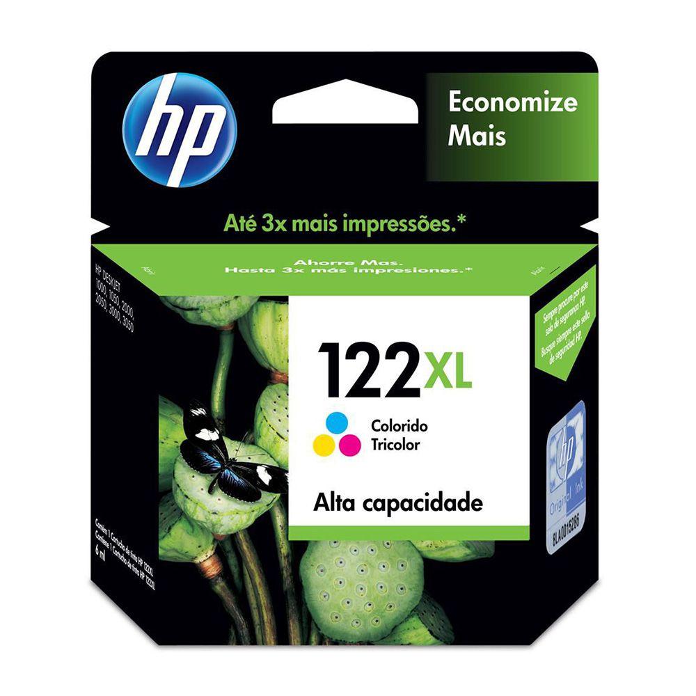 Cartucho de Tinta HP 122XL Colorido Original