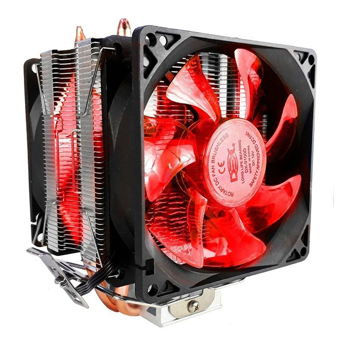 Cooler FAN Processador Intel / AMD Dupla Fan Dex Dx-9100d
