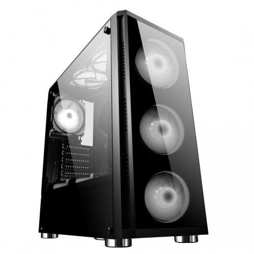 Gabinete Gamer BG-017 Preto Lateral Vidro Temperado Bluecase - (Sem Coolers - Fans)