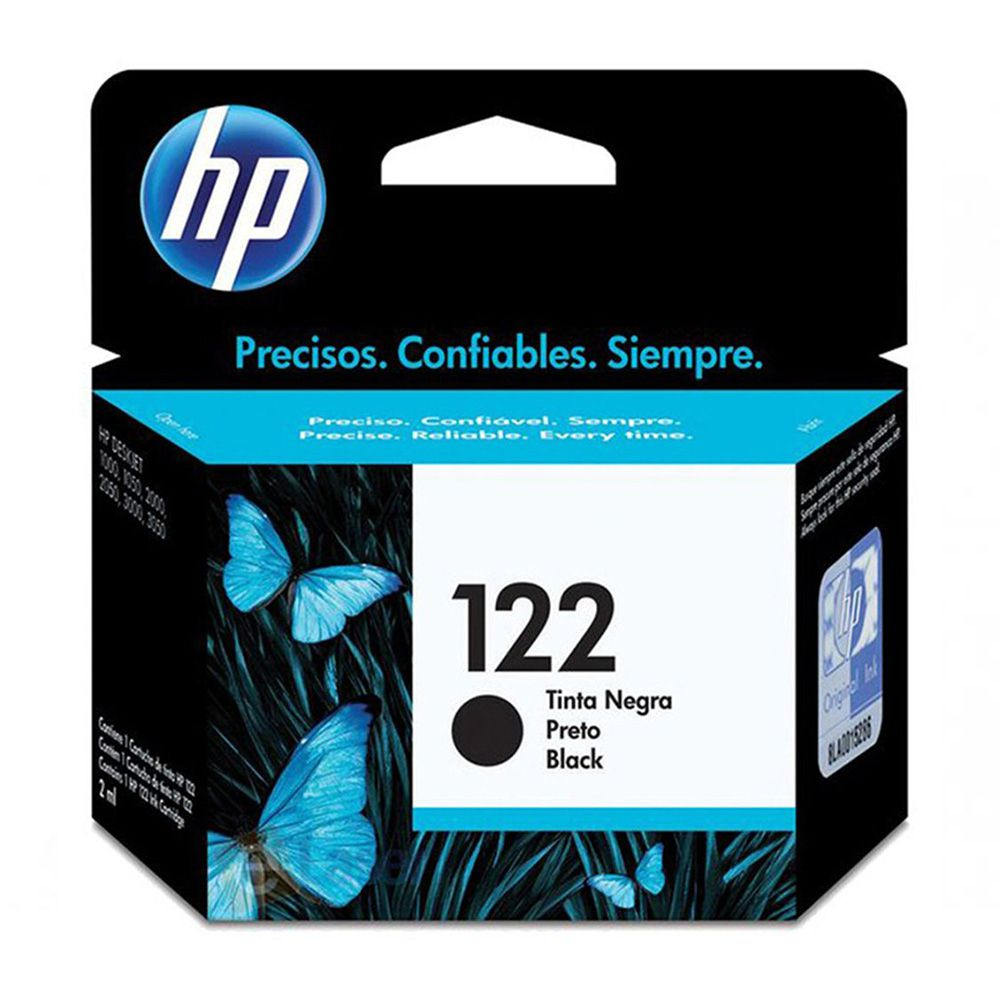 Kit 2 Cartuchos De Tinta Hp 122 Preto Original