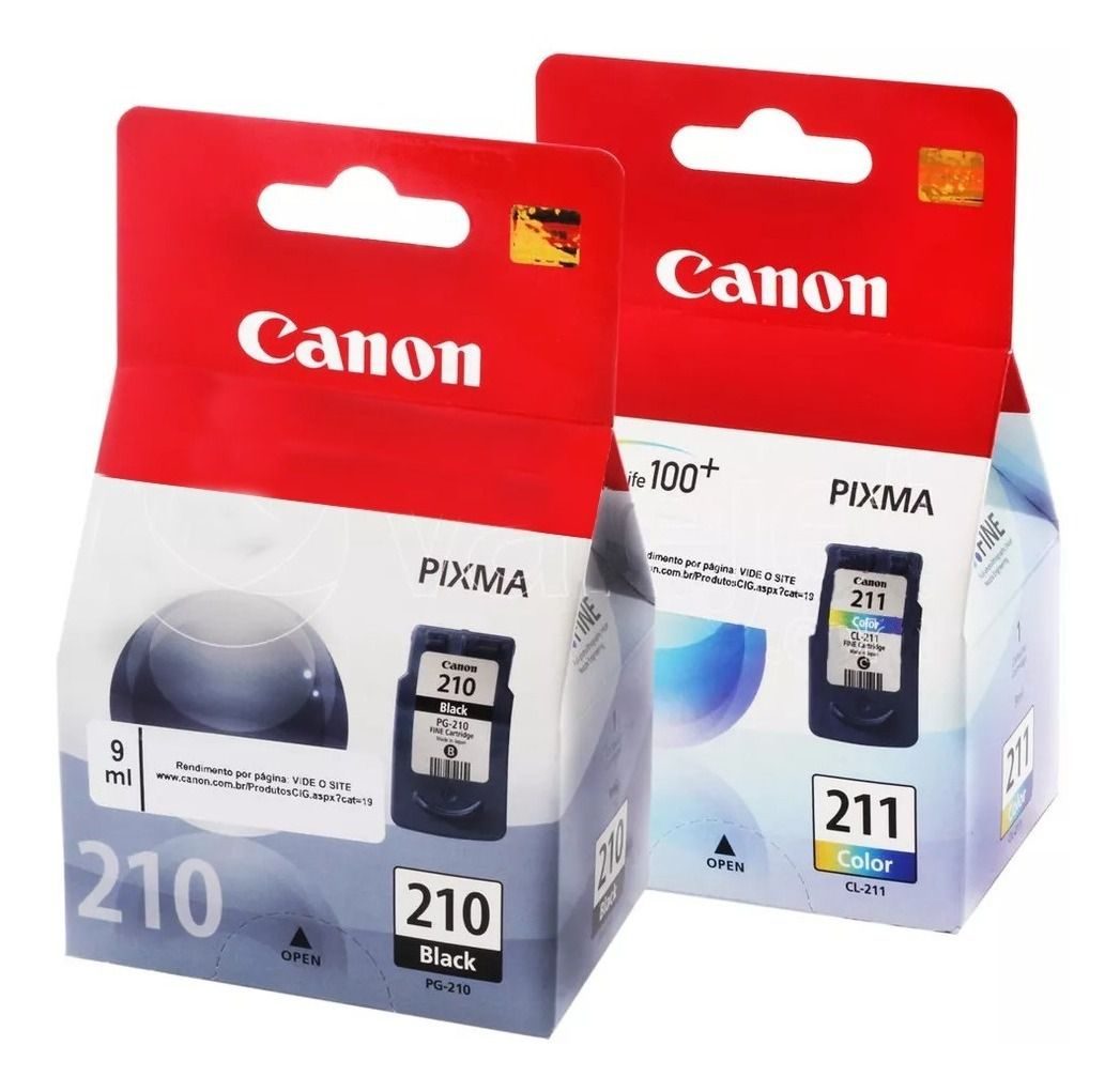 Kit Cartuchos Canon 210 Preto E 211 Colorido Original