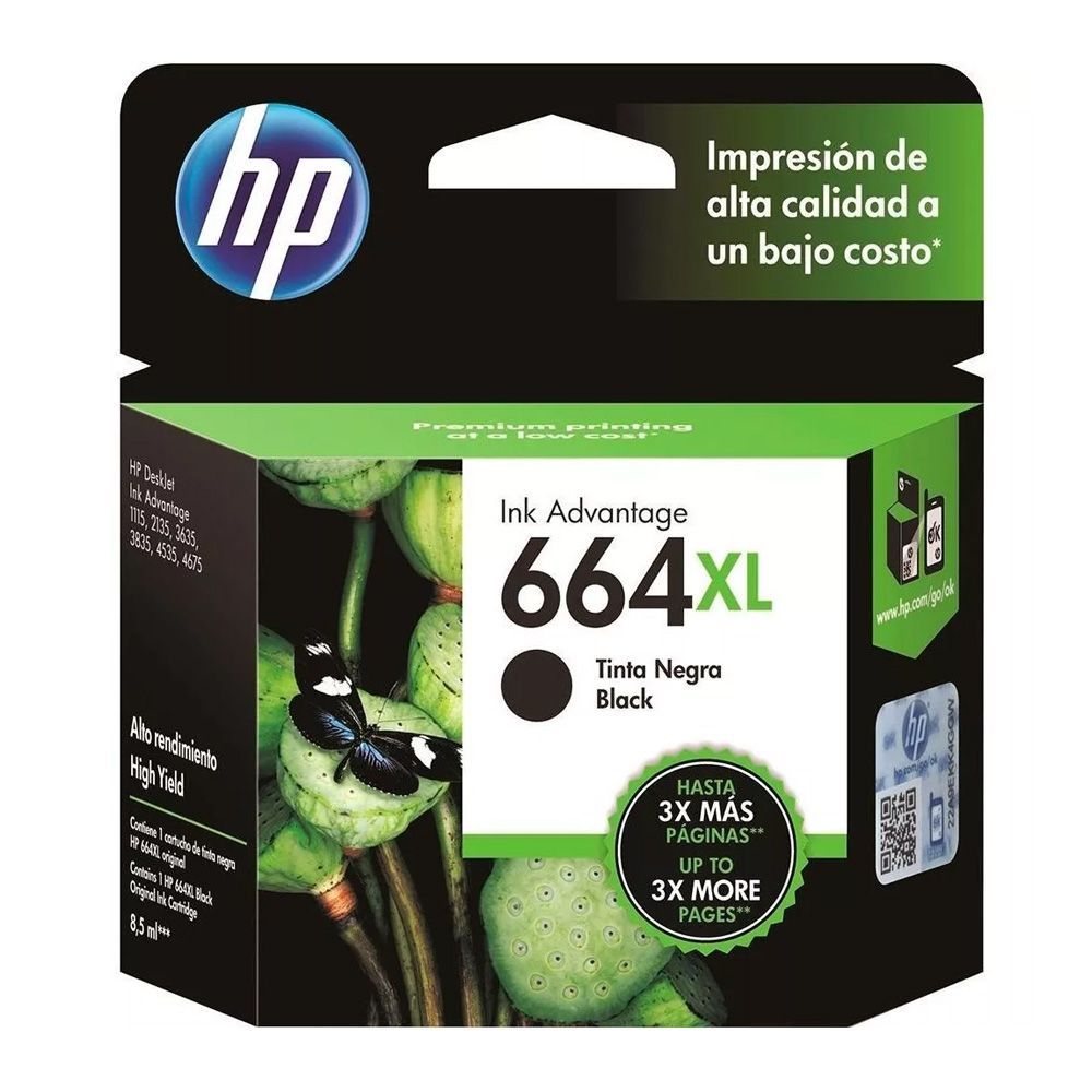 Kit Cartuchos Hp 664xl Preto 2 Unidades Original