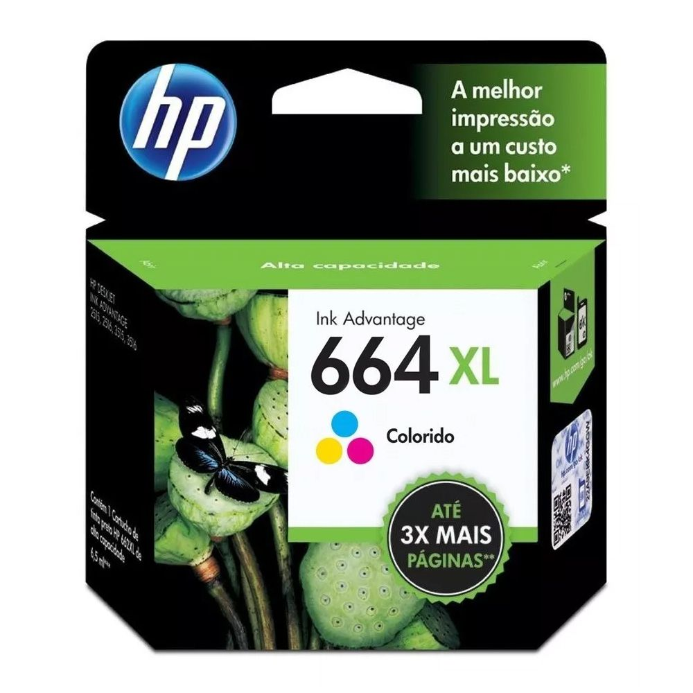 Kit Cartuchos Hp 664xl Preto E Colorido Original