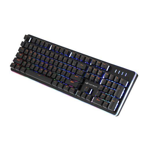 Teclado Gamer Semi-Mecânico com Luzes RGB USB C3Tech KG-300BK