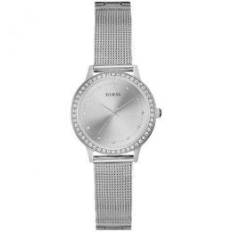 Relógio Feminino Guess Pulseira de Aço Prata Fundo Prata 92582L0GDNA7