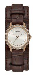 Relógio Feminino Guess Watches Pulseira de Couro Marrom Fundo Branco