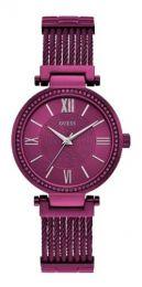 Relógio Feminino Guess Watches Pulseira de Aço Roxo Fundo Roxo
