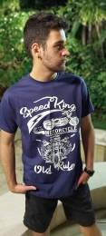 Camiseta Masculina Moto Azul  Manga Curta  700104