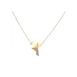 Colar GC com Pingente Origami Tsuru Folheado a Ouro CR3946CODR