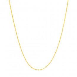 Cordão Rommanel folheado a ouro fio cadeado batido 530308 med. 50 cm