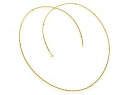 Corrente com Bolinha Lisa GC Folheado a Ouro med. 50 cm AT0908CRDR5