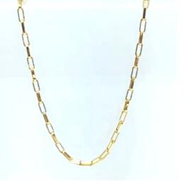 Corrente Elo Cartier GC Folheaado Ouro med. 50 cm AT0926CRDR5