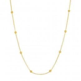 Gargantilha folheada a ouro com globos vazados rommanel 530679 med. 42 cm