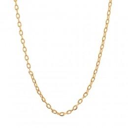 Gargantilha folheada a ouro fio cadeado rommanel  531640 med. 42 cm