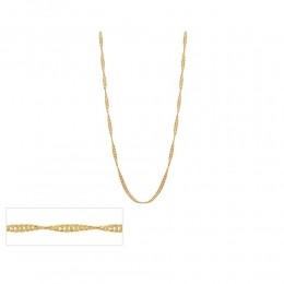 Gargantilha folheada a ouro fio cingapura Rommanel 530417 med. 42 cm