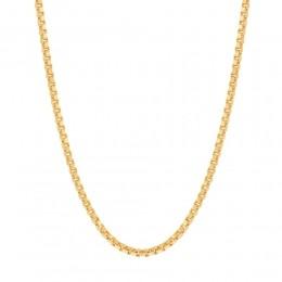 Gargantilha folheada a ouro fio veneziana rommanel  531310 med. 42 cm