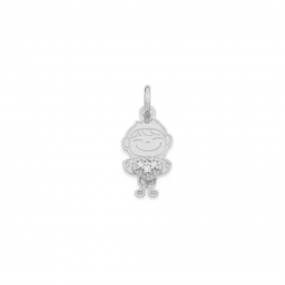 Pingente Rommanel 140758 rhodium menino med. 2,10 cm