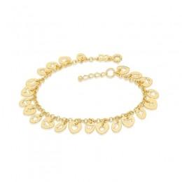 Pulseira Rommanel 550964 com berloques folheada a ouro