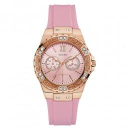 Relógio Feminino Guess Watches Pulseira de Esportivo Rosa Fundo Rosa