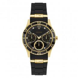 Relógio Feminino Guess Watches Pulseira de Esportivo Preto Fundo Preto