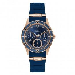 Relógio Feminino Guess Watches Pulseira de Esportivo Azul Fundo Azul