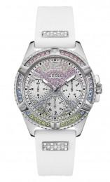 Relógio Feminino Guess Pulseira de Esportivo Branco Fundo Prata GW0045L1