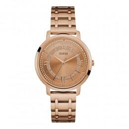 Relógio Feminino Guess Pulseira de Aço Rose Gold Fundo Rose Gold 92635LPGDRA3
