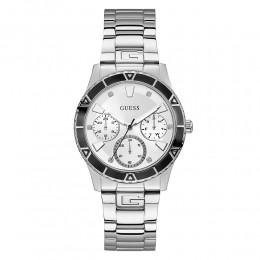 Relógio Feminino Guess Pulseira de Aço Prata Fundo Branco 92719L0GSNA4
