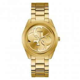 Relógio Feminino Guess Pulseira de Aço Dourado Fundo Champanhe 92628LPGTDA8