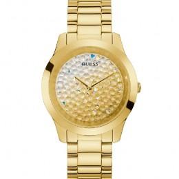 Relógio Feminino Guess Pulseira de Aço Dourado Fundo Champanhe GW0020L2