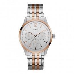 Relógio Feminino Guess Watches Pulseira de Aço Prata & Rose Gold Fundo Branco