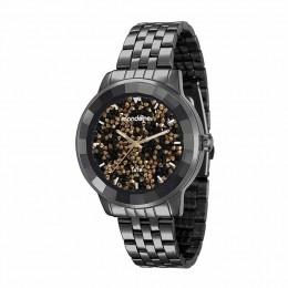Relógio Feminino Mondaine Pulseira de Aço Inoxidável Preto Fundo Preto 94713LPMVPE9