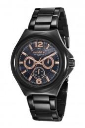 Relógio Feminino Mondaine Pulseira de Aço Inoxidável Preto Fundo Preto 99366LPMVPS3