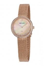 Relógio Feminino Seculus Pulseira de Aço Rose Gold Fundo Rose Gold 13043LPSVRS1