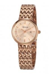Relógio Feminino Seculus Pulseira de Aço Rose Gold Fundo Rose Gold 20804LPSVRS2
