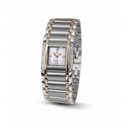 Relógio Feminino Seculus Swiss Made 16742762M2TRW Pulseira de aço e vidro de Safira com 02 anos de Garantia