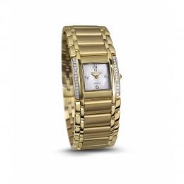 Relógio Feminino Seculus Swiss Made 16742762MYSTW Pulseira de aço e vidro de Safira com 02 anos de Garantia